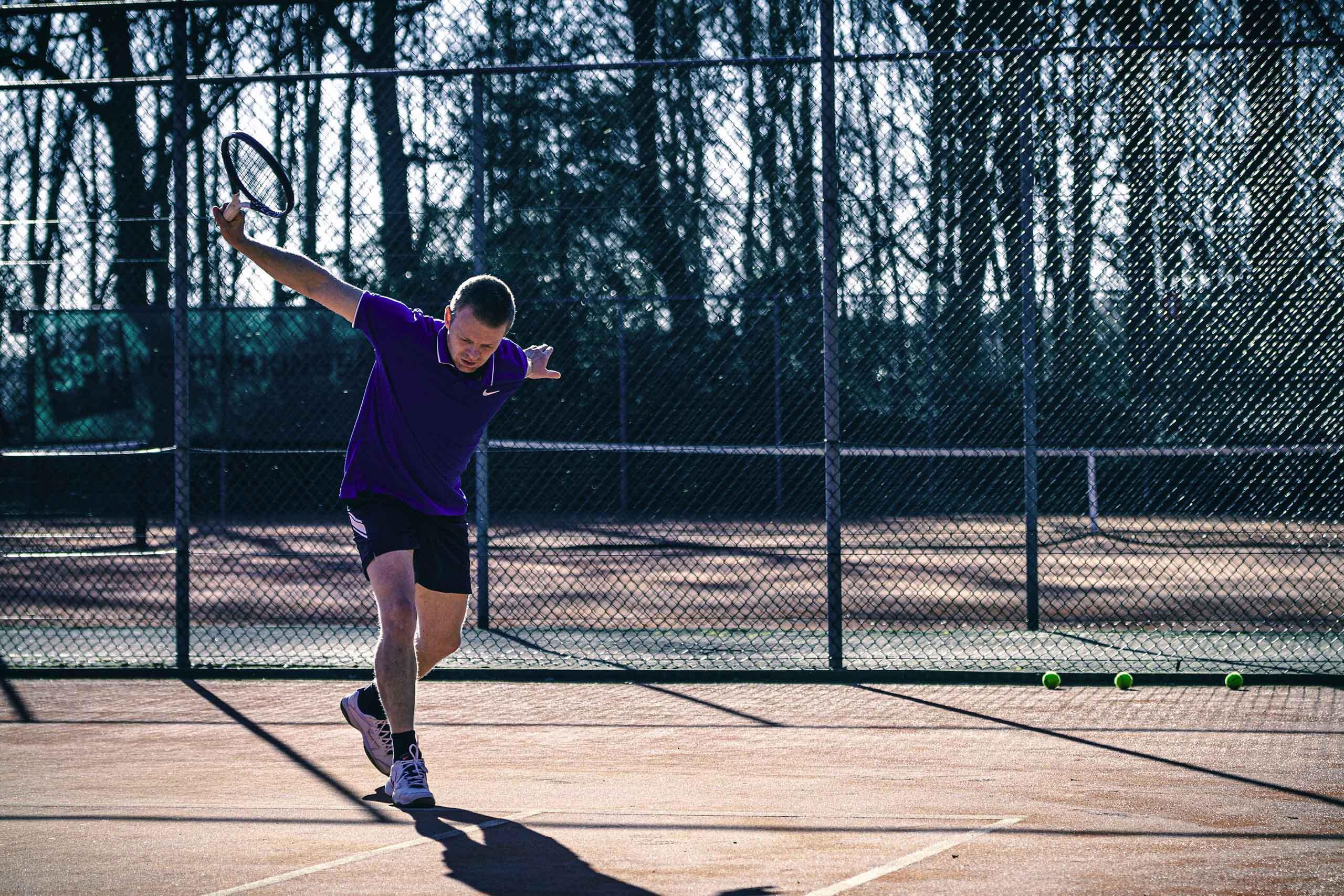 calorieën verbranden met tennis