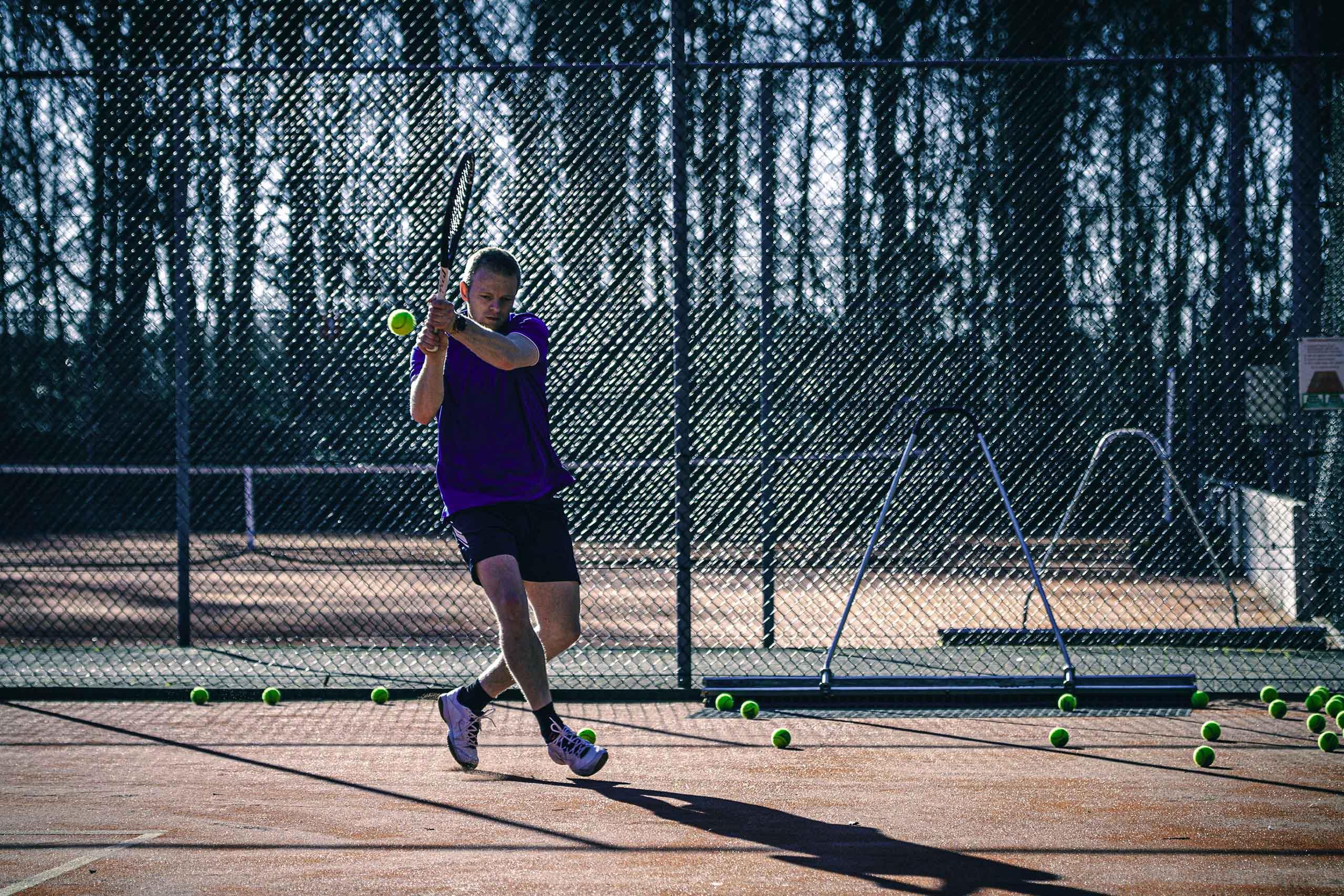 verschillende tennis ondergronden