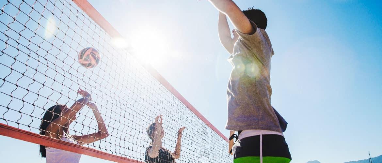 hoogte bij volleybal
