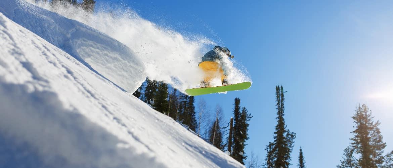 snowboarden of skiën