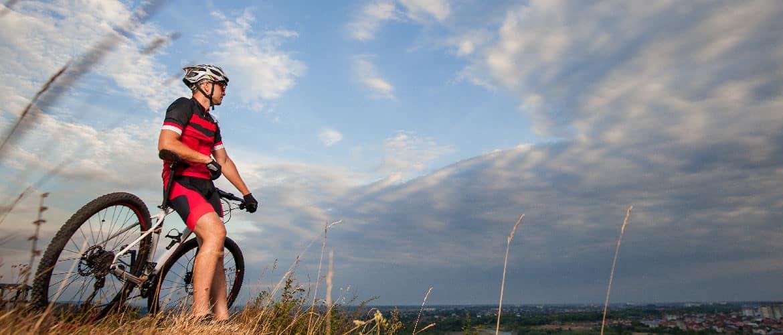 beginnend mountainbiker