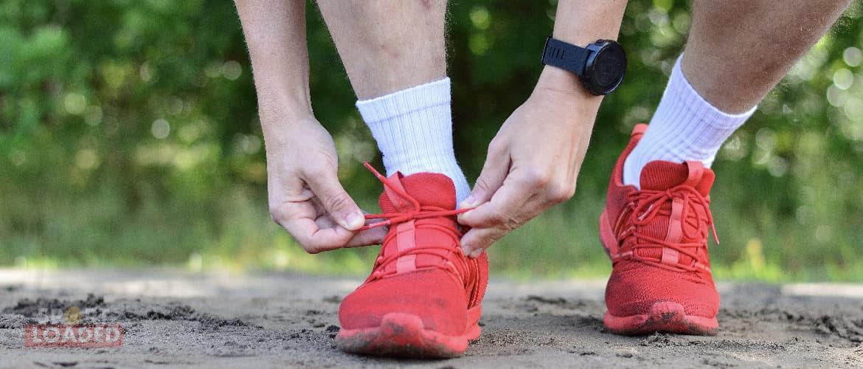 hardloopschoenen strikken