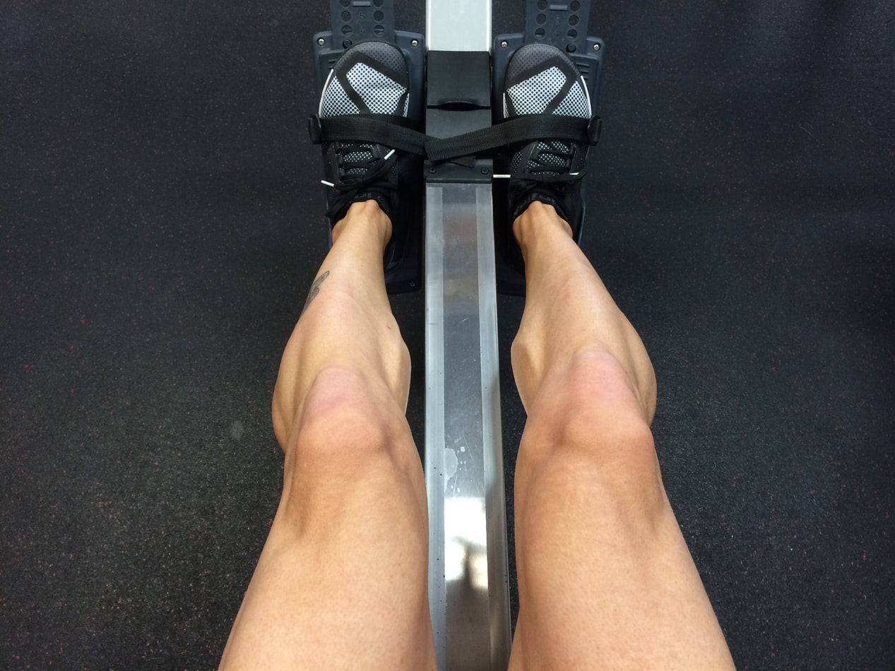 spieren trainen door te roeien